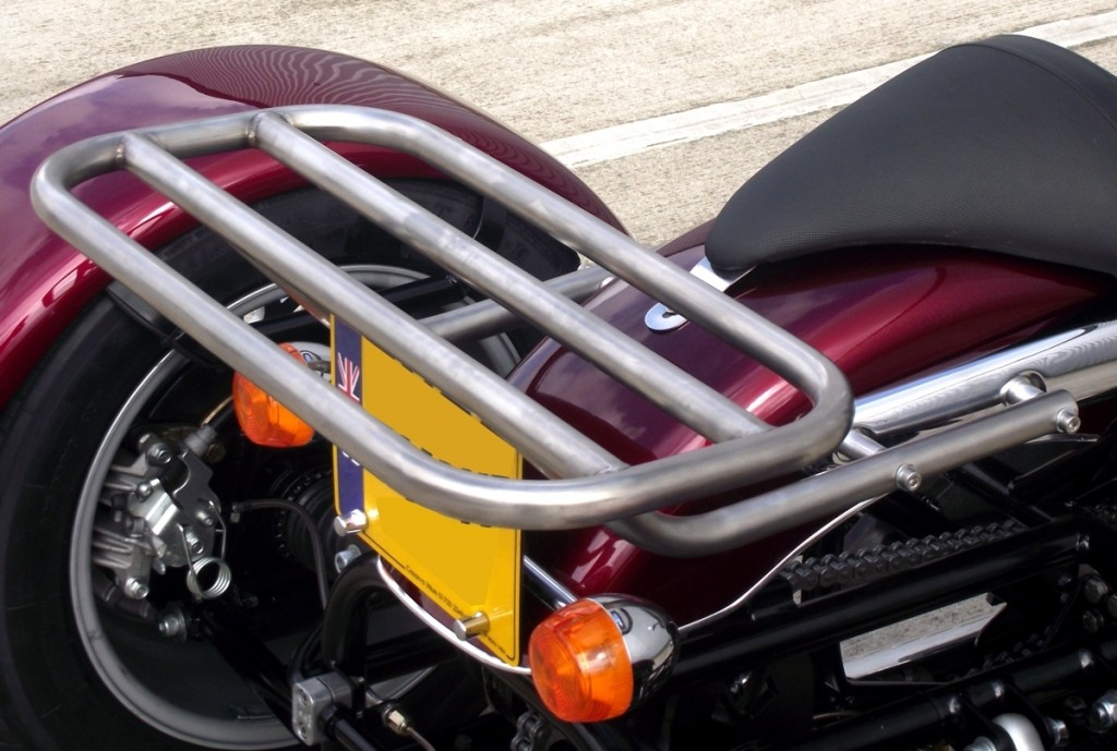 Triumph Bonneville America Rack stainless sateen finish