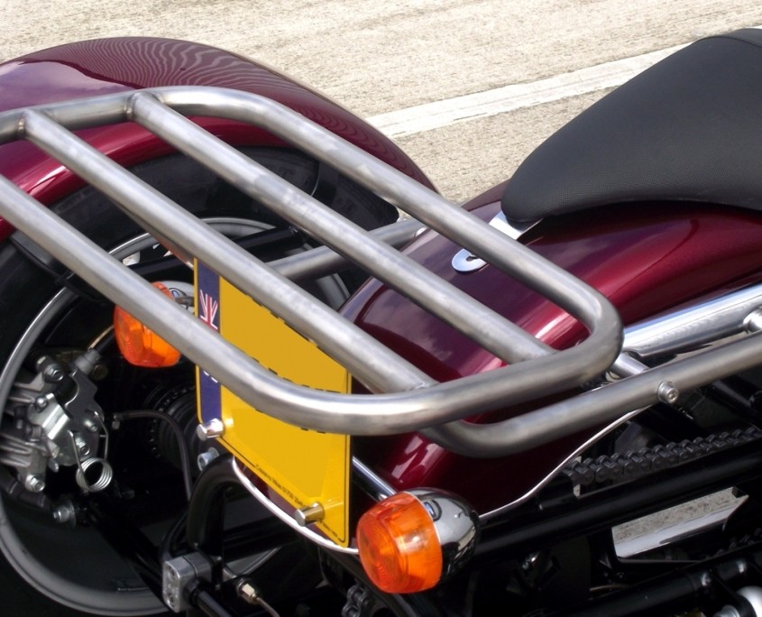 Triumph Bonneville America Rack stainless sateen finish