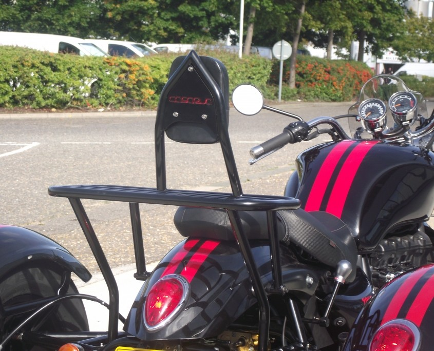 Casarva Sissy Bar and Rack Combo Powder coated steel (available in Stainless)