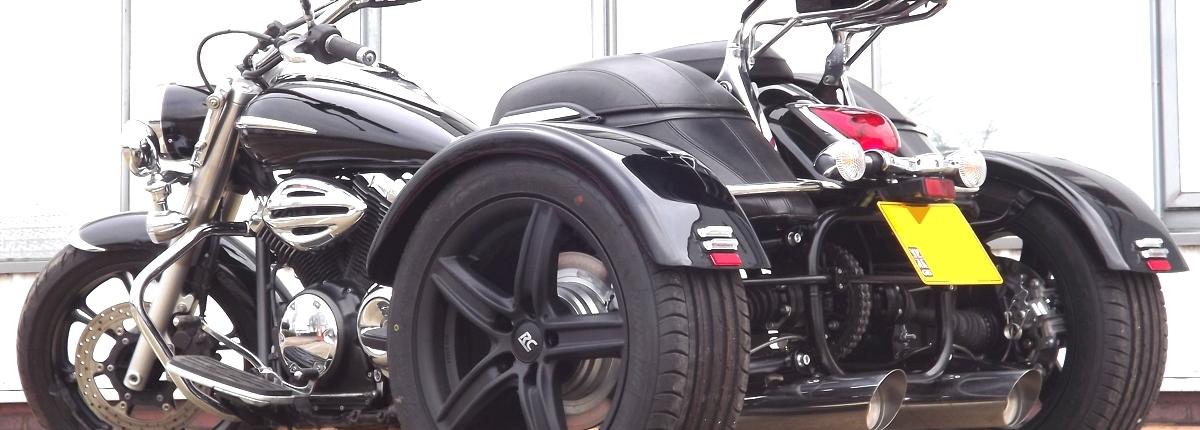 Casarva Yamaha XVS 950 Midnight Start trike with reverse